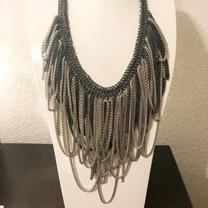 Margot Necklace - Silver/Gunmetal